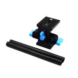 railing mount bracket 2019 - 15mm Rail Rod Support System DSLR Camera Mount Baseplate Guide Bracket for Follow Focus Matte Box XXM8 cheap railing mou