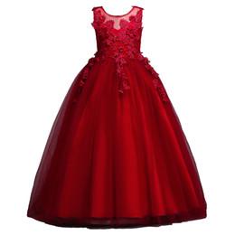 $enCountryForm.capitalKeyWord Australia - Butterfly Kids Elegant Pageant Dress Children Evening Gowns Lace Sleeveless Ball Gown Flower Girls Dresses For Wedding Ceremony