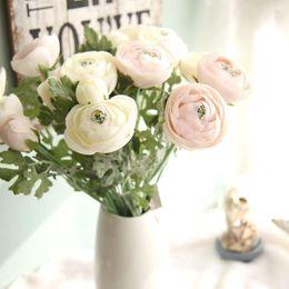 White Tea Roses Australia - High Qaulity 2 Heads Fake Flowers Artificial Tea Rose Silk Flower Wedding Decoration Valentine's Day GiftGF15636