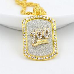 $enCountryForm.capitalKeyWord Australia - Top Fashion Military Designer Necklace Hip Hop Mens Necklace 18K Gold Plated Luxury Necklaces Rhinestone Jewelry Hot Sale