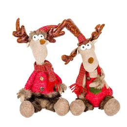 Decor Ornament Australia - Merry Christmas Tress Hanging Ornaments Christmas Home Decoration Cute Doll Toy Decor Elk Doll Pendant