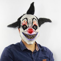 Dress Up Rooms Australia - Halloween Horror Sorcerer Clown Mask Haunted House Room Escape Dress Up Live Show Scary Headgear Wholesale Free Shipping