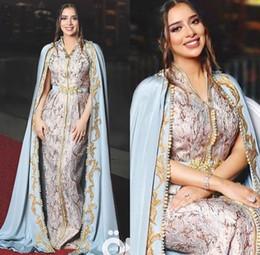 Modern velvet evening dress online shopping - Arabic Gold Beads Evening Formal Dresses Evening Gowns Dress Evening Wear Middle East Dubai Abaya Kaftan Kleider robes de soirée