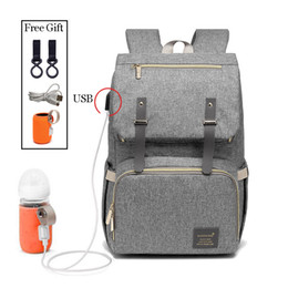 Backpacks For Women Travelling Australia - Fashion Large Capacity Baby Nappy Bag Diaper Bag Purse Multifunction Usb Mummy Travel Backpack Women Nursing Bags For Mom Daddy Y19061004