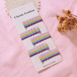 Eight Hair Australia - Color word Ins Style Combination Eight With 50 Korean Candy Clip Girl Bangs bb Clip Headdress dAult Small hair Clip