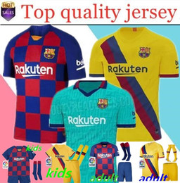 19 20 Barcelona 10 Messi camisetas de fútbol # 17 GRIEZMANN SUAREZ camisa de futebol Dembele A. INIESTA UMTITI 2019 2020 Camiseta de fútbol para hombre en venta