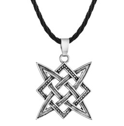 zinc alloy tags NZ - Huilin Jewelry Viking Vintage punk style zinc alloy anti-silver tag Slavic necklace