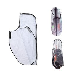 pvc poles Australia - PVC Waterproof Golf Bag Hood Rain Cover Shield Outdoor Golf Pole Bag Cover Durable Dustproof Accessories