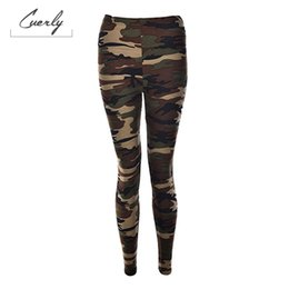 army camouflage leggings women NZ - Women Army Green Stretch Leggings Pants Trouser Graffiti Slim For Camouflage Women Gifts Wholesale 3 Color 1Pcs