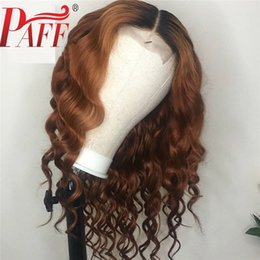 $enCountryForm.capitalKeyWord Australia - PAFF 13x4 Lace Front Human Hair Wigs 2 tone color Deep Wave Curly Brazilian Lace Frontal Wig Glueless Full End Remy Hair