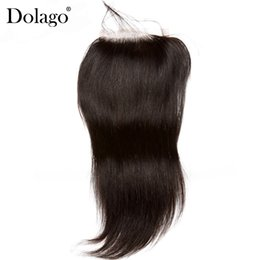 $enCountryForm.capitalKeyWord Australia - Lace Closures With Baby Hair Brazilian Human Hair Closure Bleached Knots Straight Wave Top Closures Dolago Remy