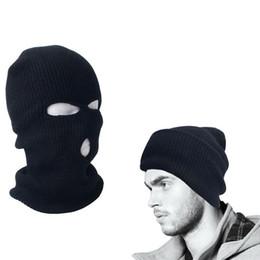 2fd72cbc3df Full Face Ski Mask 3 Holes Beanie Cap Men s Women Ski Hat Black Balaclava  Hood Warm Windproof Ear Protector Unisex Winter Black
