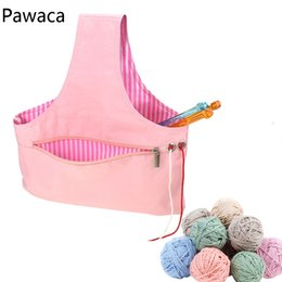 $enCountryForm.capitalKeyWord Australia - DIY Hand-made Crochet Wool Sweater Needle Crochet Storage Bag Home Environmental Protection Sewing Supplies