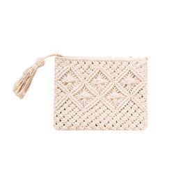 $enCountryForm.capitalKeyWord Australia - Bohemian Style Straw Bag Fashionable Simple Tassel Handbag Woven Bags Shoulder Messenger Bag Beach Bags For Women