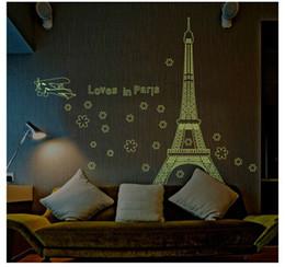 $enCountryForm.capitalKeyWord Australia - Tower glow in night paris city building wall stickers bedroom decor adesivos paredes home decals mural art