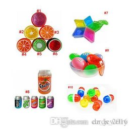 Crystals Science Australia - 2018 Fruit Crystal Mud Crystal DIY Transparent Clay Jelly Mud 6*6cm Plasticine Mud Playdough Rubber Muds Gifts For Kids