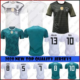 germany soccer cup 2019 - 2020 Germany 13 MULLER Home Away Soccer Jersey 8 KROOS Soccer Shirt 5 HUMMELS 17 BOATEN new maillot Top Quality 2018 Wor