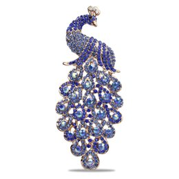 $enCountryForm.capitalKeyWord UK - 2019 European And American Fully-jewelled Peacock Brooch Alloy Plating Animal Brooch Clothing Accessories Pin Fashion Color Peacock Brooch
