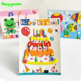 foam sticker crafts UK - Happyxuan 20 Pictures New Eva Foam Sticker Kids DIY Art Craft Handicrafts Materials Preschool Education Puzzle Toy 3 YearsMX190917
