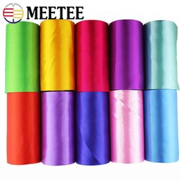 $enCountryForm.capitalKeyWord NZ - Meetee 15cm Wide Stain Ribbon Colorful Silk Webbing Decoration Tape for Wedding Festival Christmas Party Accessories RC208