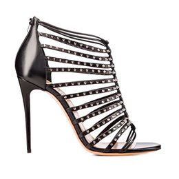 083b39fe5d8 2019 High Heels Sandals Roman Style Lace Up Nightclubs Women Pumps Sexy  Strappy Sandals Gladiator Party Shoes Ladies Hollow Cross Shoes