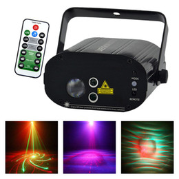 Mini Laser Stage Lighting Remote Australia - AUCD Mini AC 110-240V 3W RGB LED Lights 20 Patterns IR Remote Voice Control Mini Projector Machine Laser Stage Lighting W-20RG