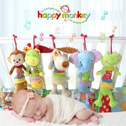 Hanging monkey toys online shopping - Baby Stuffed Toys Animals Plush Doll Soft Hanging Rattles Frog Giraffe Dog Monkey Elephant Appease lc F1