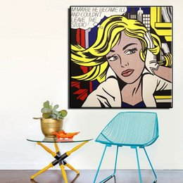 Oil Painting Hd Art Prints Canvas NZ - Roy Lichtenstein M-Maybe High Quality Hand Painted &HD Print Wall Art Oil Painting On Canvas Home Decor Multi Sizes R05