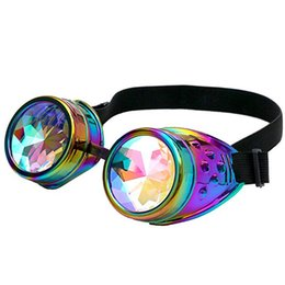 China Multicolor Kaleidoscope Glasses Festival Party EDM Eyewear Diffracted Lens Halloween carnival Sunglasses Cosplay Fashion Goggles ZZA665 supplier cosplay lenses suppliers