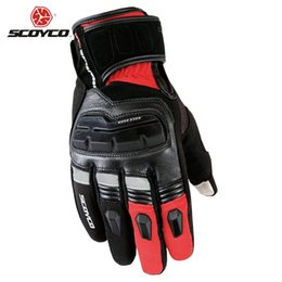 $enCountryForm.capitalKeyWord Australia - Wholesale- SCOYCO Motorcycle Touch Screen Gloves Men's Genuine Cow Leather Waterproof Windproof Warm Winter Motorbike Racing Riding Gloves