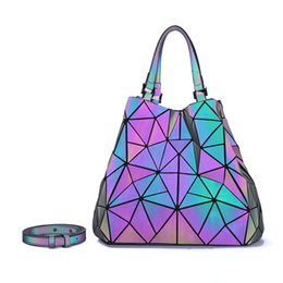 ladies handbags compartments Australia - LOVEVOOK women handbag crossbody shoulder bags for ladies 2019 large capacity foldable Totes Hobos bag geometric bag holographic