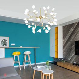 $enCountryForm.capitalKeyWord Australia - Modern Chandelier Light LED Firefly Branch Tree Decorative Pendant Lighting Fixture Ceiling Lamp Hanging Light G4 Bulbs Included Dynasty
