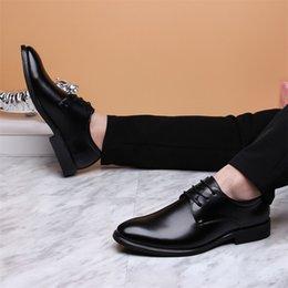 $enCountryForm.capitalKeyWord Australia - Hot Sale-Merkmak 2019 Newly Men's Quality PU Leather Shoes Social Size 37-44 Top Head Leather Autumn Office Shoes Soft Man Dress