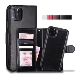 Wholesale wallet phone cases for sale - Group buy Cyberstore Phone Case Leather Wallet Case Magnetic in1 Detachable Cover Cases For iPhone Pro xs Max Samsung Note10 S10 Plus