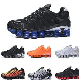 Cheap wrestling shoes online shopping - Cheap Shox TL men Running Shoes Metallic Silver Clay Orange Triple Black Blue Sunrise University Red White Silver mens sneakers eur40