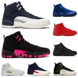 $enCountryForm.capitalKeyWord Canada - New Arrival 12 12s mens Basketball Shoes PRM DEEP ROYAL white black Gym red man designer trainers shoe sports sneaker size 7-13