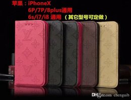 Discount leather embossed phone covers - Case for iphone XR XS MAX X 7 8 plus embossed flip phone case for apple iphone7 plus brand TPU cover inside and with car
