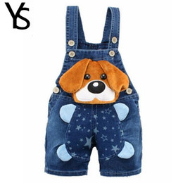 toddler boy 4t Australia - 9M-4T Baby Boys Jeans Overalls Shorts Infant Toddlers Kids Denim Rompers Cute Dog Jumpsuit For Summer Children Clothes