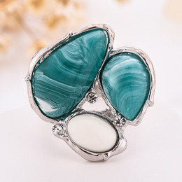 Valentine Rings Australia - New Fashion 4 Colors Vintage Personalized Irregular Resin Inlay Wedding Engagement Ring Band for Couples Valentine Day's Gifts Wholesale