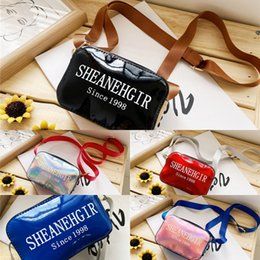 small double zipper bag UK - yclmU Korean style children's 2020 new single should fashionable patent leath double zipp small square bag trendy bao tong baoShoulder Bag e
