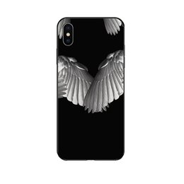 Wholesale GV Fashion Phone Case Designer for Iphone s p sp p p X XS XRXSMax Fashion Wing Print Luxury Back Cover Black and White Available