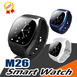 Best smart watch for iphone online shopping - Bluetooth Smart Watches M26 Wrist Watch For iPhone Samsung HTC Android Phone Health Smartwatch Best Sale VS U8 DZ09 GT08 A1 Apple Watch