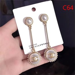 Toptan satış Toptan Marka Tasarımcısı Çift Harfler Küpe Kulak Çiviler Altın Gümüş Ton Küpe Kadın Erkek Düğün Takı Için Hediye