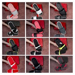 Summer Booties For Women Australia - 2019 Hot Ignite V Memory Foam Slidea Slippers Hook Loop Fasteners Lazy Beach Slipper for Men Women Summer Fashion Designer Slippers 36-45
