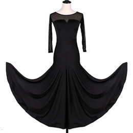 ballroom standard dance dresses Australia - 2019 Ballroom Dance Competition Dresses Flamenco Standard Dance Dresses Waltz Tango CHEAP D0945 Big Ruffled Hem
