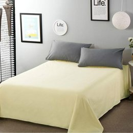 $enCountryForm.capitalKeyWord NZ - 1 Bed Sheet item Cotton 100% Sheets Soft Sheet Twin Size Hotel Home Bedsheets New More Styles Single Double For Adult and Child