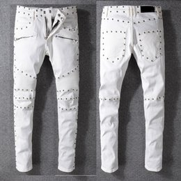 0cc618942d478 mens patched distressed jeans 2019 - Wholesale- MCCKLE Embroidery LightBlue  Mens Fashion Jeans Pants Distressed