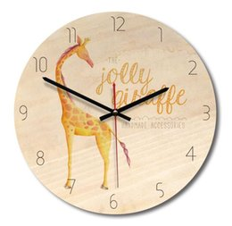 Vintage Fashion Wall Clocks NZ - New home creative wall clock Vintage fashion elephant living room clock Sen wood wooden wall clock
