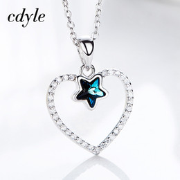 dhgate S925 Sterling Silver Heart Necklace Star Crystals from Swarovski  Charm Pendant Necklace For Women Romantic Love Gifts d7a06fd54e93