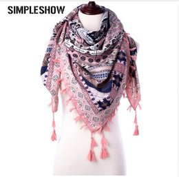 $enCountryForm.capitalKeyWord NZ - Hot Sell 2019 Fashion Tassel Scarfs Winter Scarves For Women Triangle Scarves Warm Girls Tassels Women Thick Female Scarf